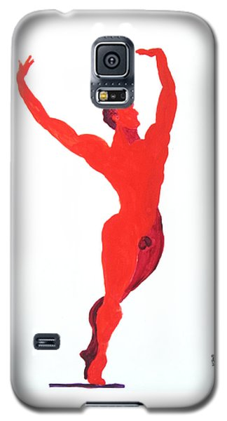 Galaxy S5 Case featuring the painting Triumphant Balance by Shungaboy X