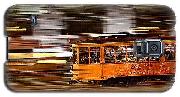Galaxy S5 Case featuring the photograph Trolley 1856 On The Move by Steve Siri