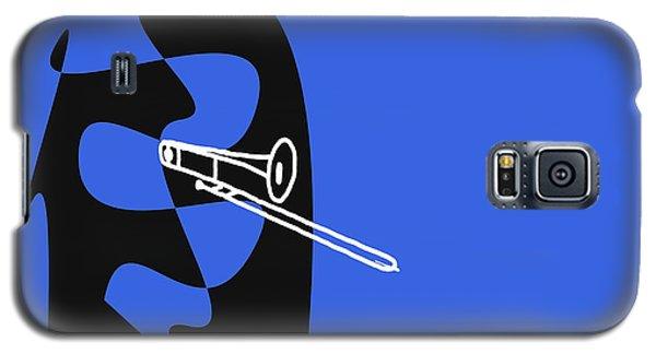 Galaxy S5 Case featuring the digital art Trombone In Blue by Jazz DaBri
