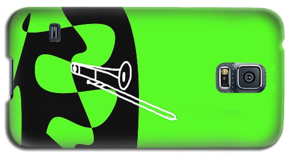 Galaxy S5 Case featuring the digital art Trombone In Green by Jazz DaBri