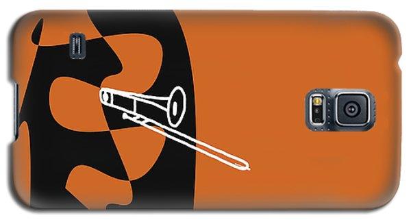 Galaxy S5 Case featuring the digital art Trombone In Orange by Jazz DaBri