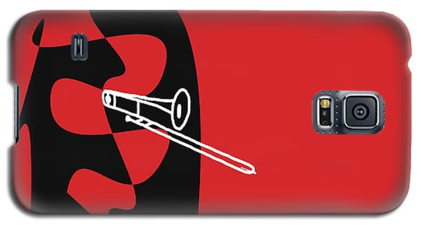 Galaxy S5 Case featuring the digital art Trombone In Red by Jazz DaBri