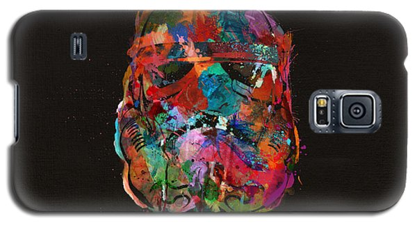 Star Wars Galaxy S5 Case - Trooper In A Storm Of Color by Mitch Boyce