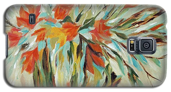 Galaxy S5 Case featuring the painting Tropical Arrangement by Joanne Smoley