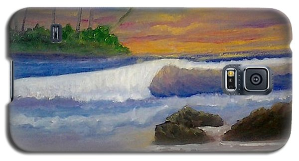 Galaxy S5 Case featuring the painting Tropical Dream by Holly Martinson