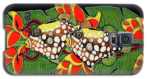 Galaxy S5 Case featuring the painting Tropical Fish by Debbie Chamberlin