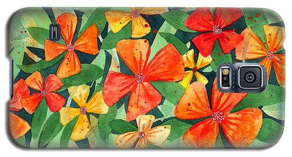 Tropical Flower Splash Galaxy S5 Case by Kristen Fox
