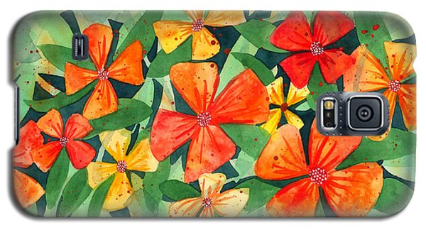 Tropical Flower Splash Galaxy S5 Case