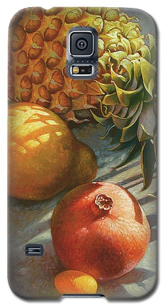 tropical Fruit Large Galaxy S5 Case