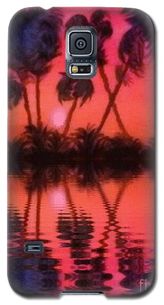Galaxy S5 Case featuring the painting Tropical Heat Wave by Holly Martinson