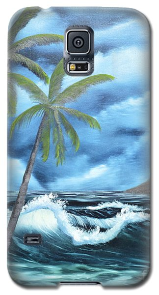 Galaxy S5 Case featuring the painting Tropical by Mary Scott