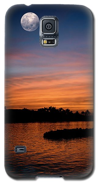 Galaxy S5 Case featuring the photograph Tropical Moon by Laura Fasulo