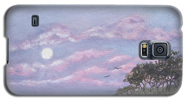 Galaxy S5 Case featuring the painting Tropical Moonrise by Kathleen McDermott