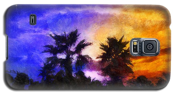 Tropical Night Fall Galaxy S5 Case by Francesa Miller