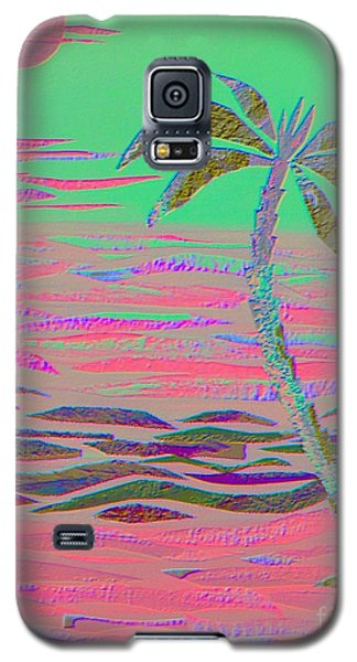 Hot Pink Coconut Palm Galaxy S5 Case