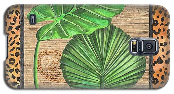 Cheetah Galaxy S5 Case - Tropical Palms 1 by Debbie DeWitt