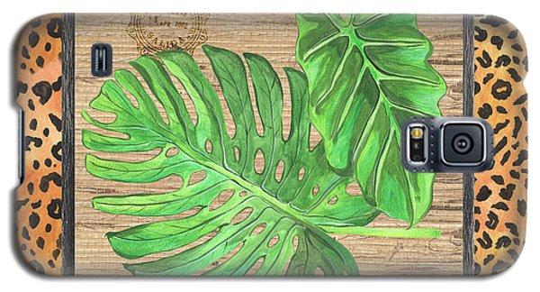 Cheetah Galaxy S5 Case - Tropical Palms 2 by Debbie DeWitt