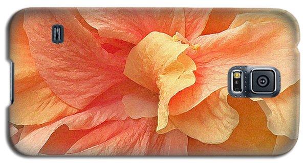 Tropical Peach Hibiscus Flower Galaxy S5 Case
