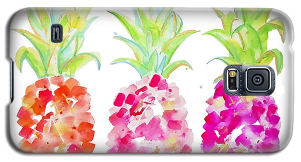 Tropical Pink And Gold Galaxy S5 Case by Roleen Senic