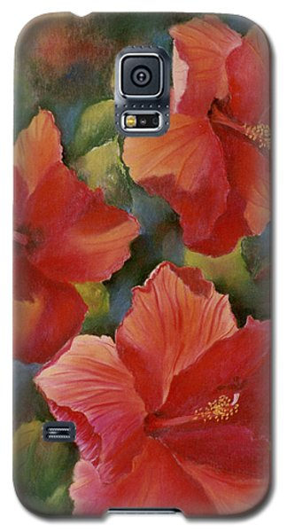 Galaxy S5 Case featuring the painting Tropical Punch by Ann Peck