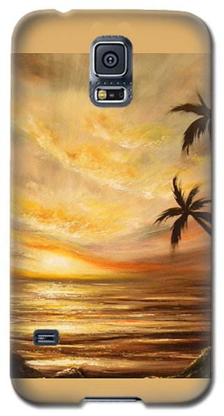 Tropical Sunset 64 Galaxy S5 Case