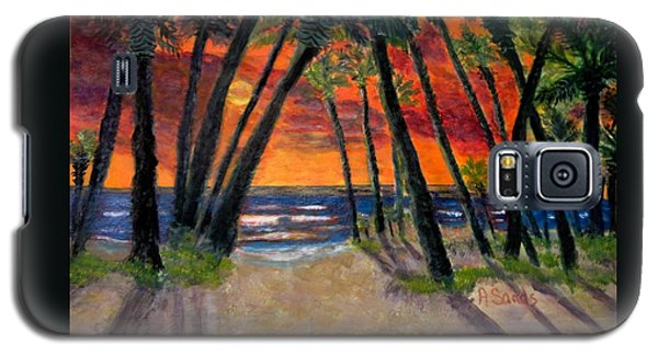 Tropical Sunset Galaxy S5 Case