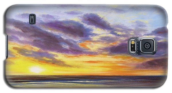 Tropical Sunset Panoramic Painting Galaxy S5 Case