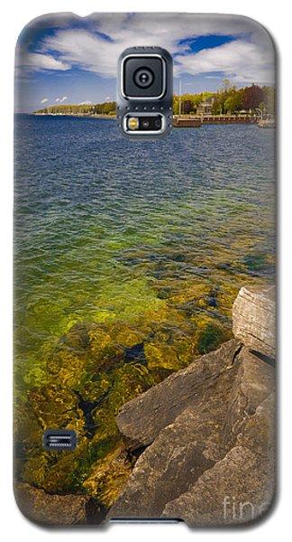 Tropical Waters Of Door County Wisconsin Galaxy S5 Case by Mark David Zahn