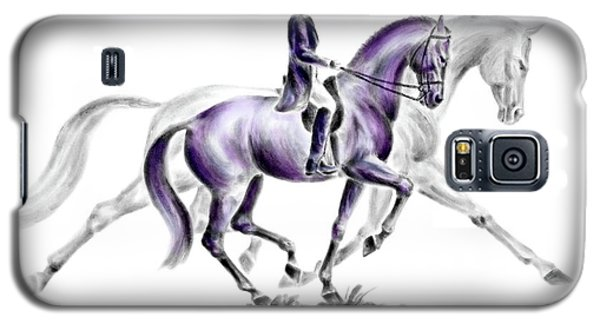 Trot On - Dressage Horse Print Color Tinted Galaxy S5 Case