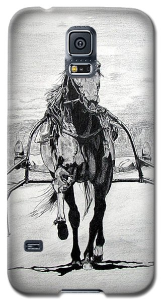 Galaxy S5 Case featuring the drawing Trotter by Melita Safran