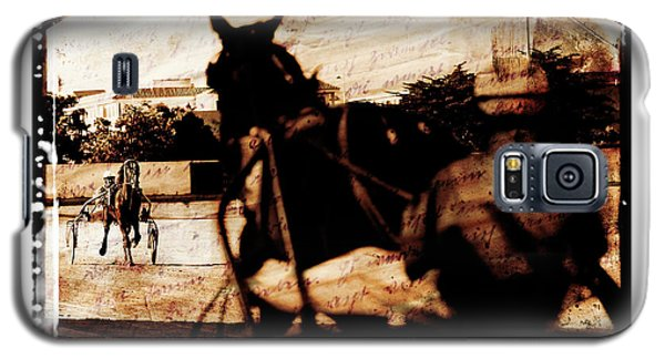 Galaxy S5 Case featuring the photograph trotting 1 - Harness racing in a vintage post processing by Pedro Cardona