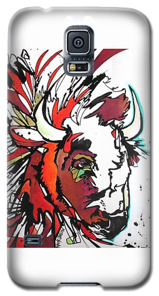 Galaxy S5 Case featuring the painting Trouble by Nicole Gaitan