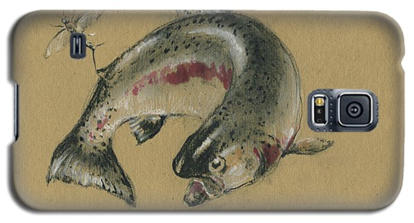 Trout Galaxy S5 Case - Trout Eating by Juan Bosco