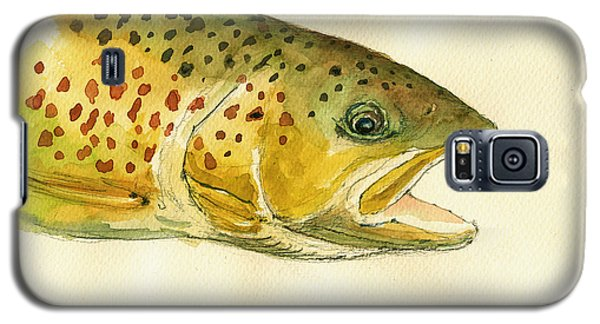 Trout Watercolor Painting Galaxy S5 Case by Juan  Bosco