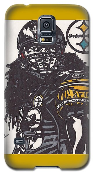 Galaxy S5 Case featuring the drawing Troy Polomalu 1 by Jeremiah Colley