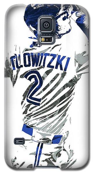 Galaxy S5 Case featuring the mixed media Troy Tulowitzki Toronto Blue Jays Pixel Art 2 by Joe Hamilton
