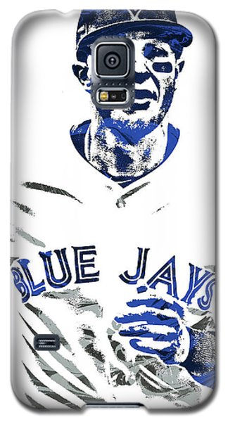 Galaxy S5 Case featuring the mixed media Troy Tulowitzki Toronto Blue Jays Pixel Art by Joe Hamilton