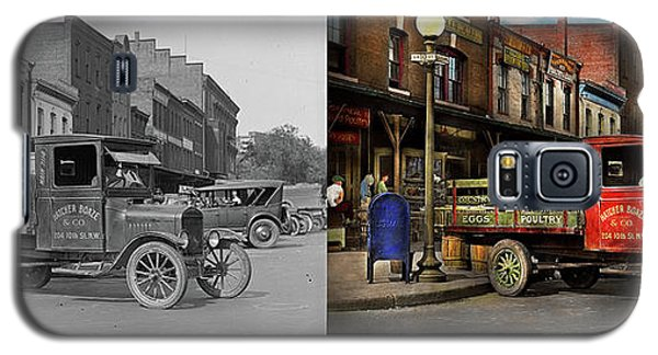 Galaxy S5 Case featuring the photograph Truck - Home Dressed Poultry 1926 - Side By Side by Mike Savad