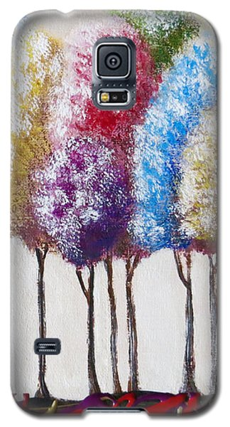 Galaxy S5 Case featuring the painting Truffula Forest by Teresa Wing