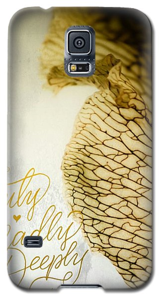 Galaxy S5 Case featuring the photograph Truly Madly Deeply by Bobby Villapando