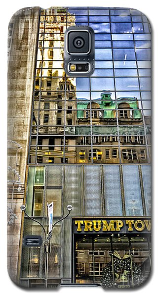 Galaxy S5 Case featuring the photograph Trump Tower With Reflections by Walt Foegelle
