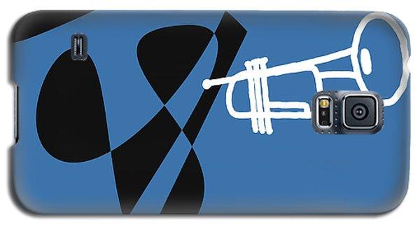 Galaxy S5 Case featuring the digital art Trumpet In Blue by Jazz DaBri