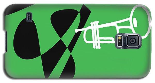 Galaxy S5 Case featuring the digital art Trumpet In Green by Jazz DaBri