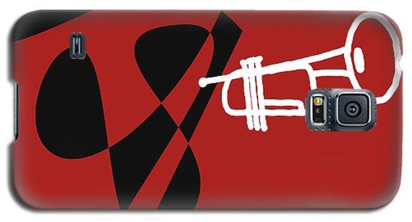 Galaxy S5 Case featuring the digital art Trumpet In Orange Red by Jazz DaBri