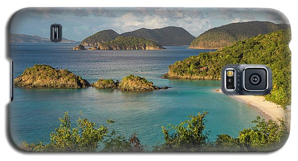 Galaxy S5 Case featuring the photograph Trunk Bay Morning by Adam Romanowicz