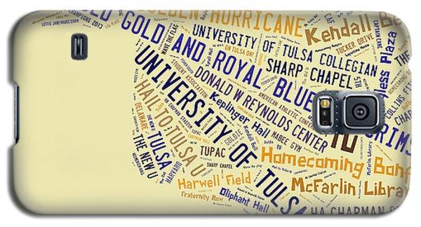 Tu Word Art University Of Tulsa Galaxy S5 Case by Roberta Peake
