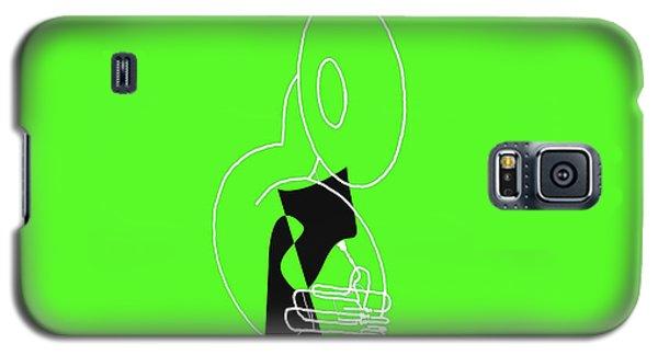 Galaxy S5 Case featuring the digital art Tuba In Green by Jazz DaBri