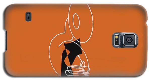 Galaxy S5 Case featuring the digital art Tuba In Orange by Jazz DaBri