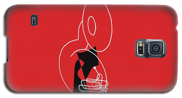 Galaxy S5 Case featuring the digital art Tuba In Red by Jazz DaBri