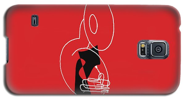 Tuba In Red Galaxy S5 Case
